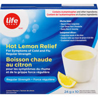 Image of Life Brand Hot Lemon Relief Reg Strength10 X 24Gr