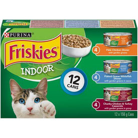 Image of Friskies Indoor Wet Cat Food Variety Pack 12x156g