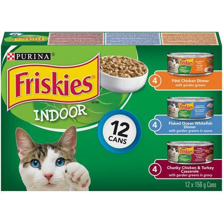 Friskies Indoor Wet Cat Food Variety Pack 12x156g