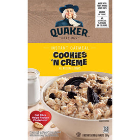 Image of Quaker Instant Oatmeal, Cookies & Cream 8pk