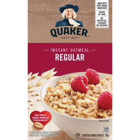 Image of Quaker Instant Oatmeal, Regular 350g