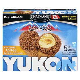 Image of Chapman's Yukon Grizzly Caramel and Toffee Ice Cream Cone 5 x 140mL