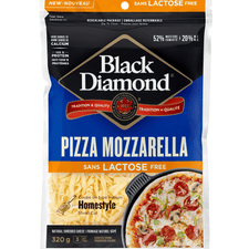 Image of Black Diamond Shredded Cheese, Lactose Free Pizza Mozzarella 320g
