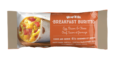 Wrap And Go Burrito Egg Bacon Cheese 113 G