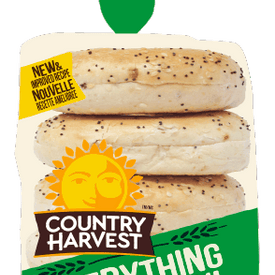 Image of Country Harvest Bagel, Everything 6pk