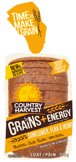 Country Harvest Bread, Sunflower Flax 675g