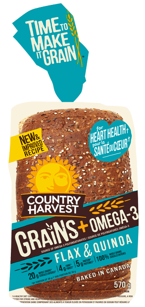 Country Harvest Bread, Flax Quinoa 675g