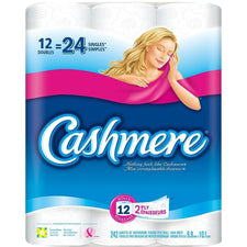 Image of Cashmere Double Roll Bathroom Tissue 12 Double = 24 Roll PKG