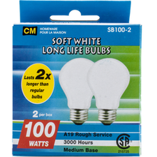 Image of Cm Soft White 100W Lightbulbs 2 Pk