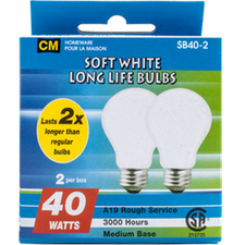 Image of Cm Soft White 40W Lightbulbs 2 Pk