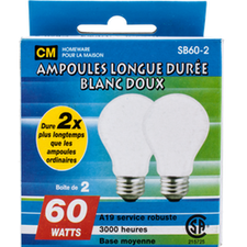 Image of Cm Soft White 60W Lightbulbs 2 Pk