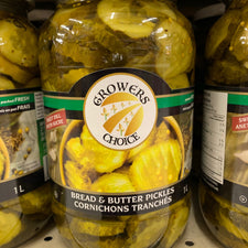 Image of Grower's Choice Bread and Butter Pickles 1 Litre