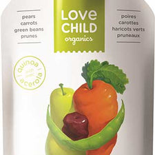 Image of Love Child, Organic Pears, Carrots, Green Beans & Prunes 128mL