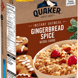 Image of Quaker Instant Oatmeal, Gingerbread 336g