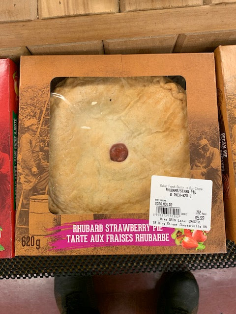 Rhubarb/Strawberry Pie 8 Inch 620 G