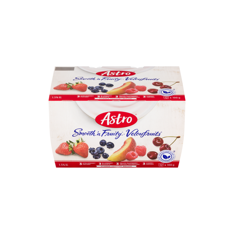 Astro Smooth & Fruity, Peach Raspberry/Cherry/Strawberry/Blueberry 12x100g