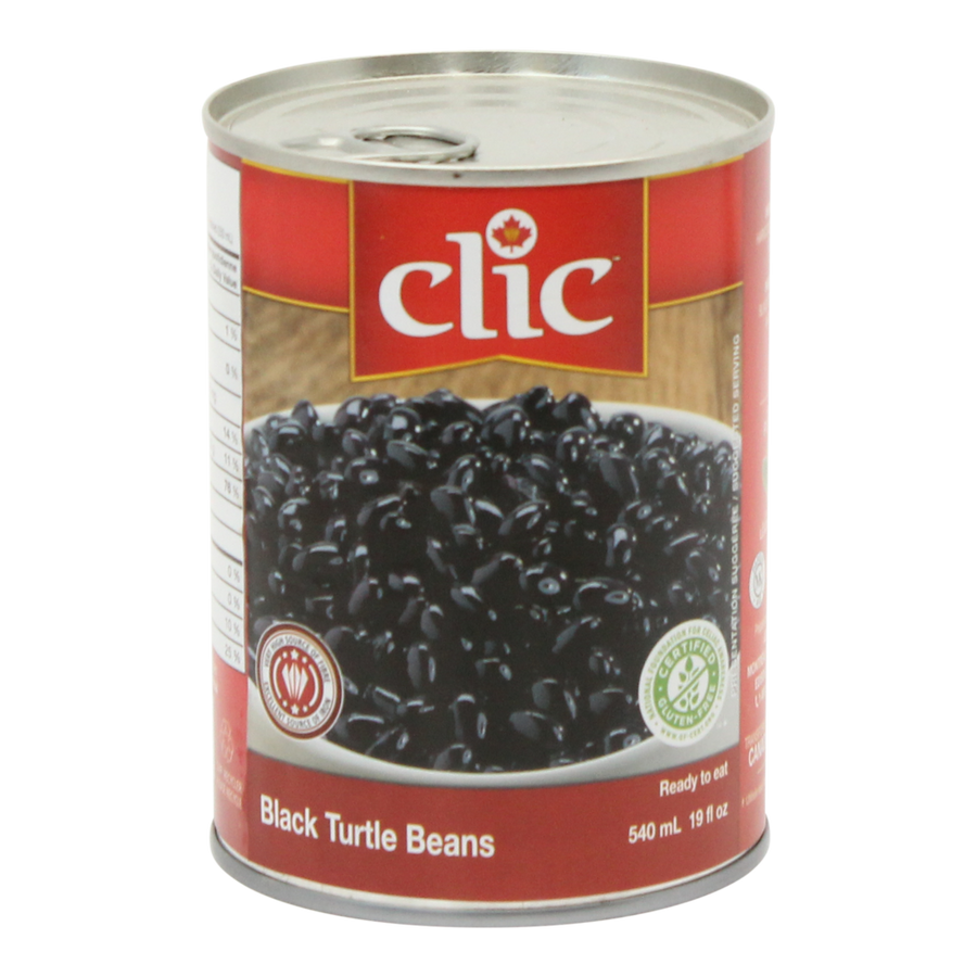 Clic Black Turtle Beans 540 ML