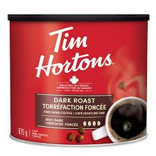 Image of Tim Hortons Dark Roast Fine Grind Coffee 875 G