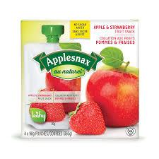 Image of Applesnax  Apple & Strawberry Unsweetened Pouches 4 X 90G
