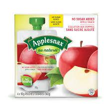 Image of Applesnax Apple Unsweetened Pouches 4 X 90G