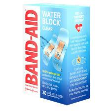 Band-Aid Clear Water Block Plus 30Pk