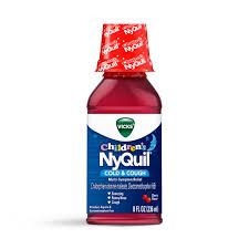 Image of Vicks Nyquil For Children Cold And Cough Cherry Flavour 236mL