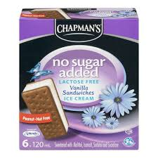Image of Chapmans Vanilla Sandwiches, No Sugar Added 6 X 120ML