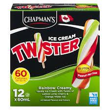 Image of Chapmans Twister Rainbow Cream 12Pk