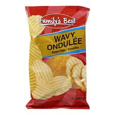 Image of Family's Best Wavy Chips 130g