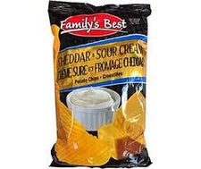 Image of Family's Best Cheddar & Sour Cream Chips 130g