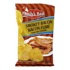 Image of Family's Best Smokey Bacon Chips 130g