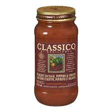Image of Classico Italian Sausage Peppers Onions Sauce 650 Ml