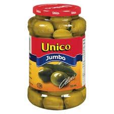 Unico Jumbo Olives 750 Ml