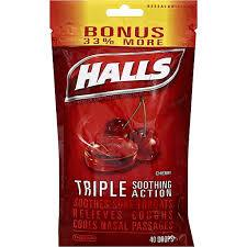 Image of Halls Triple Action Cherry Drops 40pk