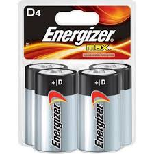 Image of Energizer D Batteries 4pk