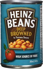 Heinz Beans Tomato Deep Brown 398mL