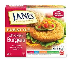 Janes Chicken Burger 700g
