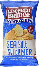 Image of Covered Bridge Kettle Cooked Chips, Sea Salt 170g
