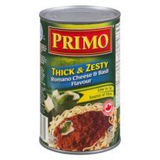 Image of Primo Thick & Zesty Romano Cheese & Basil Pasta Sauce 680mL