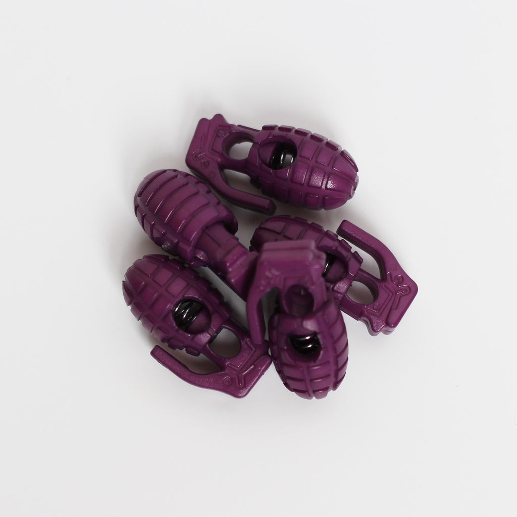 Purple Grenade Lace Stoppers