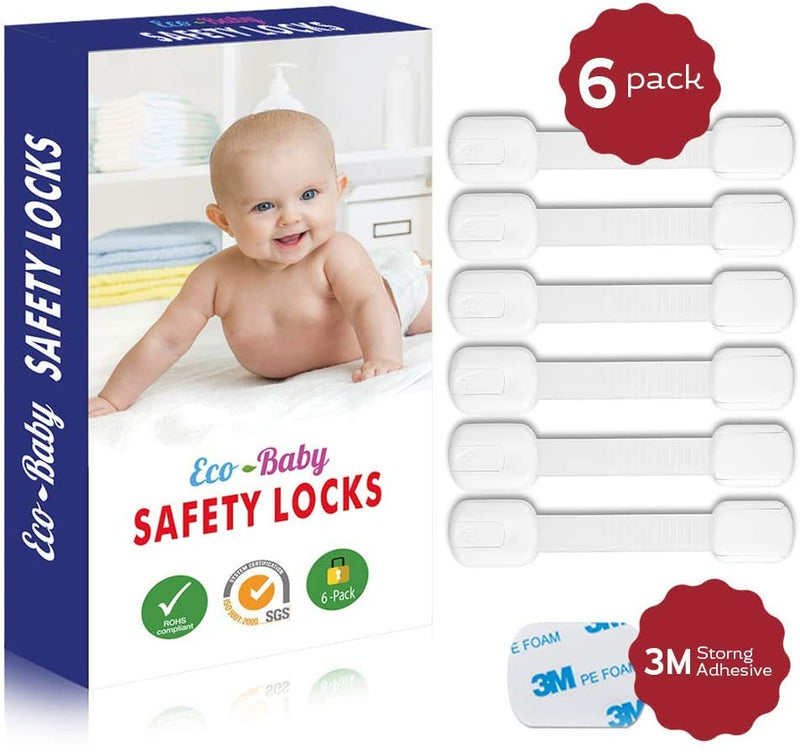 Cabinet Locks for Babies - 6 Baby Proofing Straps