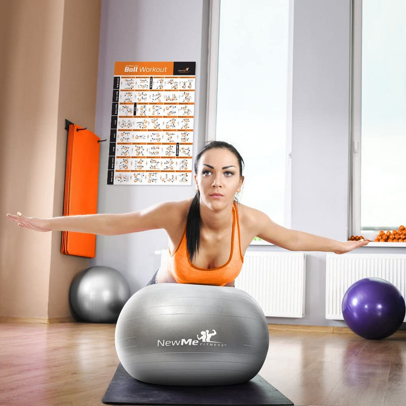 NewMe Fitness Exercise Ball Poster