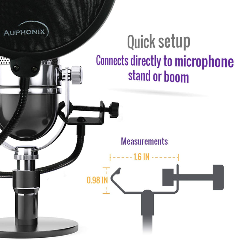 Auphonix Microphone Pop Filter