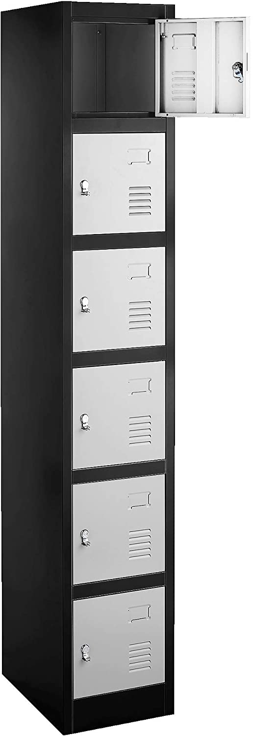 Fedmax 6 Metal Compartments Locker