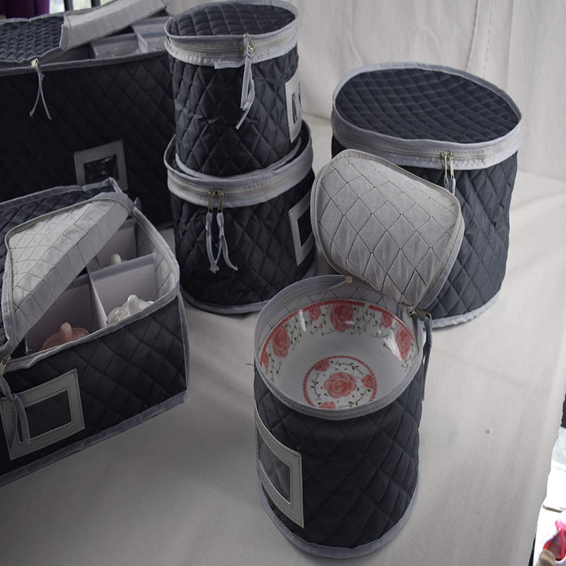 Set of 2 Cups & Glasses Storage Case -