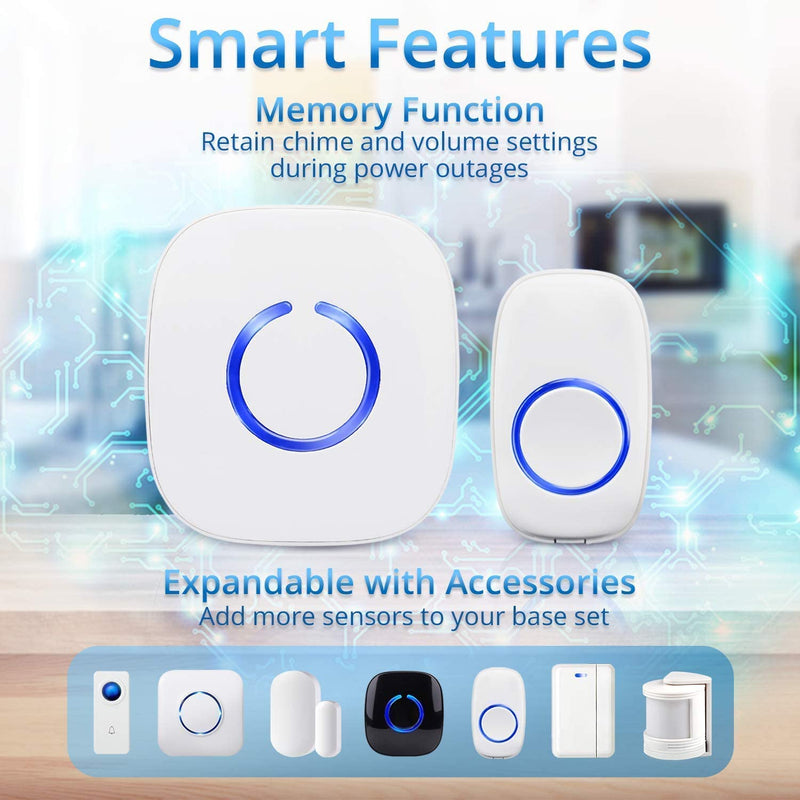 SadoTech Wireless Waterproof Doorbells - Model C