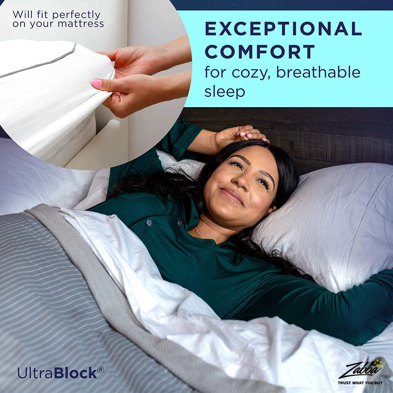 UltraPlush Premium Waterproof Mattress Protector - Super Soft Quiet Cover