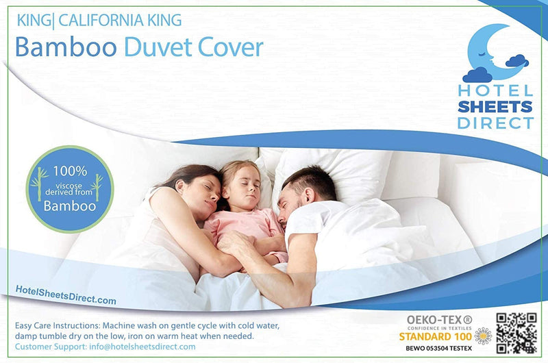 Hotel Sheets Direct 100% Bamboo Duvet Cover 3 Piece Set