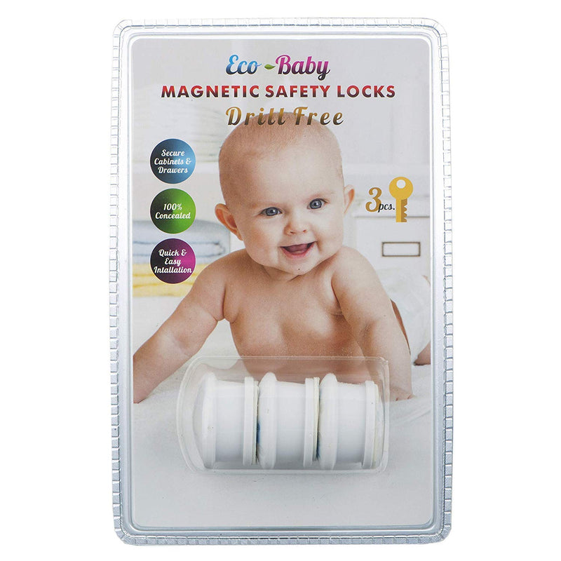 Eco-Baby Universal Replacement Keys for Magnetic Cabinet Locks - 3 Keys