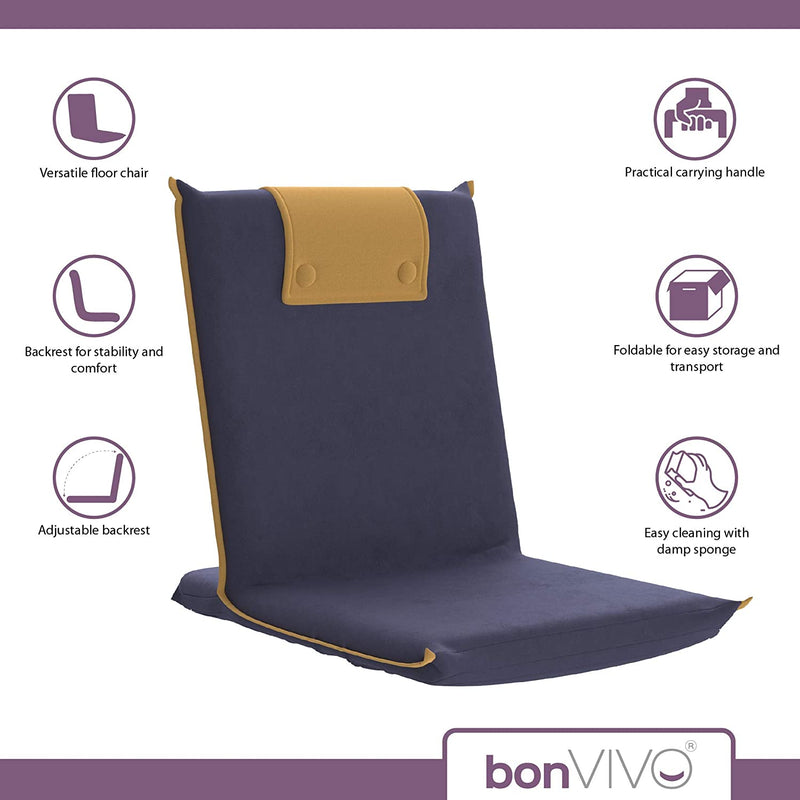 BonVIVO Easy III Semi-Foldable Chair for Floor Seating